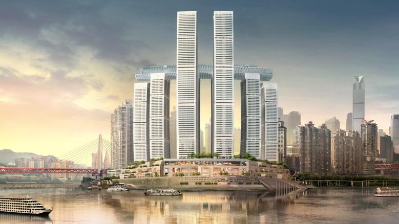 Raffles City Chongqingclose up2000x1125c Safdie Architects CapitaLand China Investment Co Ltd2